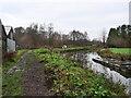 TG2930 : Northwest along canal path by David Pashley