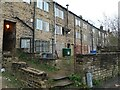 SE0623 : Back view of Wharf Street shops, Sowerby Bridge by Christine Johnstone