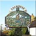 TG3014 : Salhouse village sign by Adrian S Pye
