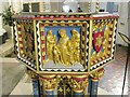 TL8564 : Bury St Edmunds - Cathedral Font by Colin Smith