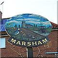 TG1924 : Marsham village sign by Adrian S Pye