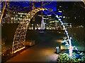SJ8097 : Christmas Illuminations at MediaCityUK by David Dixon