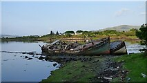 NM5643 : Abandoned fishing boats, Salen by Sandy Gerrard