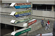 TQ3080 : Direction sign, South Bank by Robin Webster