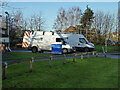SO8755 : Emergency repairs, Malvern View, Worcester by Chris Allen