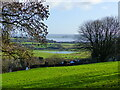 ST5393 : Looking across to the River Wye flood plain from Piggy's Hill, Chepstow by Ruth Sharville