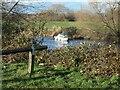 SE3925 : Boating on the River Calder, upstream of Woodnook Lock by Christine Johnstone