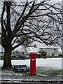 SO7844 : Pillarbox in the snow by Philip Halling