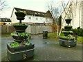 SE3533 : Memorial planters, Chapel Street, Halton by Stephen Craven