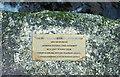 SX6666 : Plaque on clapper bridge, Western Wella Brook by Derek Harper
