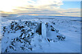 NC9527 : OS Trig Pillar on Cnoc an Eireannaich Summit, Scottish Highlands by Andrew Tryon