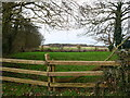 TG3231 : Looking West over fence by David Pashley