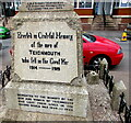 SX9472 : Dedications on Teignmouth War Memorial by Jaggery