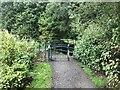 SJ8850 : Gated footpath at Ford Green by Jonathan Hutchins