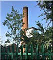 SP2965 : Chimney to the rear of Warwickshire County Council depot, Montague Road, Warwick by Robin Stott