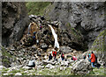 SD9164 : Gordale Beck waterfall in Gordale Scar by habiloid