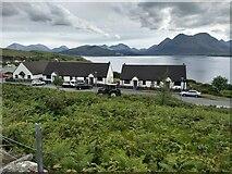 NG5536 : Looking towards cottages at Inverarish by David Medcalf