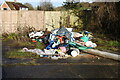 TG2010 : Fly tipping in Hellesdon by Adrian S Pye