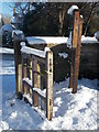 TF1506 : Gateway to St. Benedict's Church, Glinton, in the snow by Paul Bryan