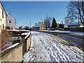 TF1505 : Peakirk Road, Glinton, in the snow by Paul Bryan