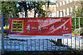 TQ3389 : Tottenham Green : advisory banner by Jim Osley