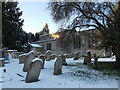 TF1606 : St. Pega's Church, Peakirk, in the snow by Paul Bryan