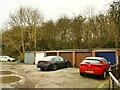 SE2040 : Garages, Church Court, Yeadon (2) by Stephen Craven