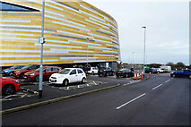 SK3735 : Derby Arena car park area by Malcolm Neal
