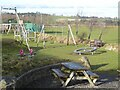 NY9257 : Playground at Whitley Chapel by Oliver Dixon