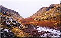 NN3918 : Marshiness between tops of Beinn a' Chroin by Trevor Littlewood