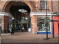 NY4056 : Market Hall Entrance, Scotch Street by Adrian Taylor