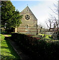 SY3098 : West side of St Mary's Catholic Church, Axminster by Jaggery