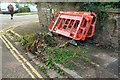 SX9065 : Barriers around tree stump, Parkhurst Road by Derek Harper