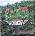 TL7857 : Depden village sign by Adrian S Pye