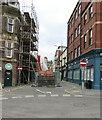 ST3188 : Blocked Market Street in Newport city centre by Jaggery