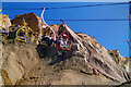 SZ3085 : Chair lift at Alum Bay by Bill Boaden