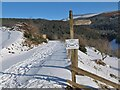 NT2641 : Snow-covered track to Glenbield by Jim Barton