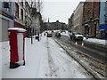 H4572 : Snow and slush, High Street, Omagh by Kenneth  Allen