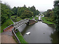 SO9286 : Dudley No 1 Canal at Delph Locks near Brierley Hill by Roger  Kidd