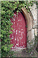 SP4776 : St John's Old Church, Long Lawford - south door by Stephen McKay