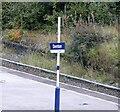 SJ9195 : Denton Station sign by Gerald England
