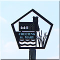 TM0955 : Creeting St Mary village sign by Adrian S Pye