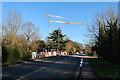 TL4259 : Crane over Madingley Road by Hugh Venables