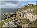 SH7682 : Limestone headland by Jonathan Wilkins