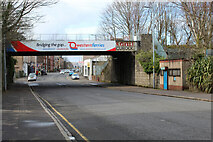 NS2776 : Brougham Street railway bridge by Thomas Nugent