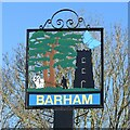 TM1250 : Barham village sign (recoloured) by Adrian S Pye