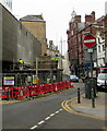 ST3188 : Scaffolders at work in Newport city centre by Jaggery