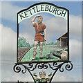 TM2660 : Kettleburgh village sign by Adrian S Pye