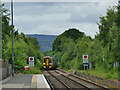 NH5249 : Arrival of the Kyle train at Muir of Ord by Stephen Craven