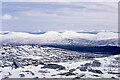 NN3772 : Snow covered boulders on Meall Garbh by Trevor Littlewood